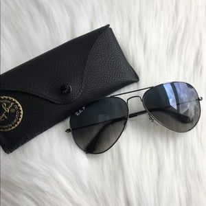 Ray Ban Polarized Gradient Aviators BNIB